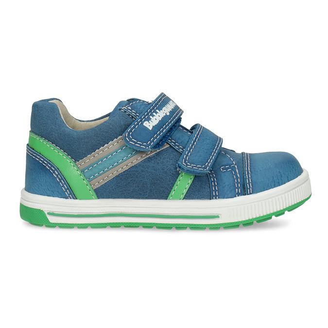 Modré detské tenisky so zeleným detailom bubblegummers, modrá, 111-9625 - 19