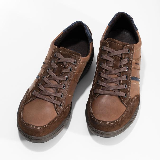 Kožené pánske hnedé tenisky bata, hnedá, 846-4714 - 16