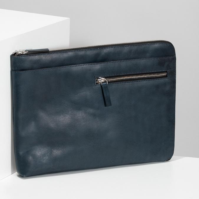 Pánske kožené púzdro na dokumenty bata, modrá, 964-9312 - 17
