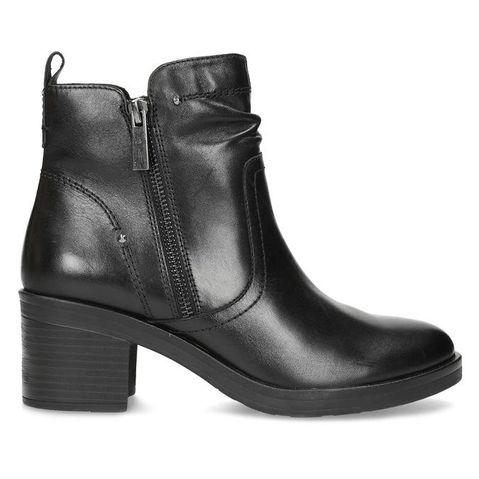 Dámska členková zimná obuv na podpätku bata, čierna, 694-6672 - 19