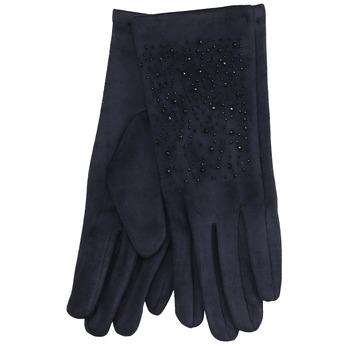 Tmavomodré rukavice s kamienkami bata, modrá, 909-9692 - 13