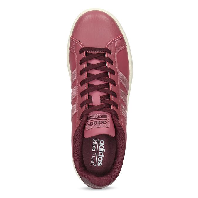 Ružové dámske ležérne tenisky adidas, červená, 501-5101 - 17
