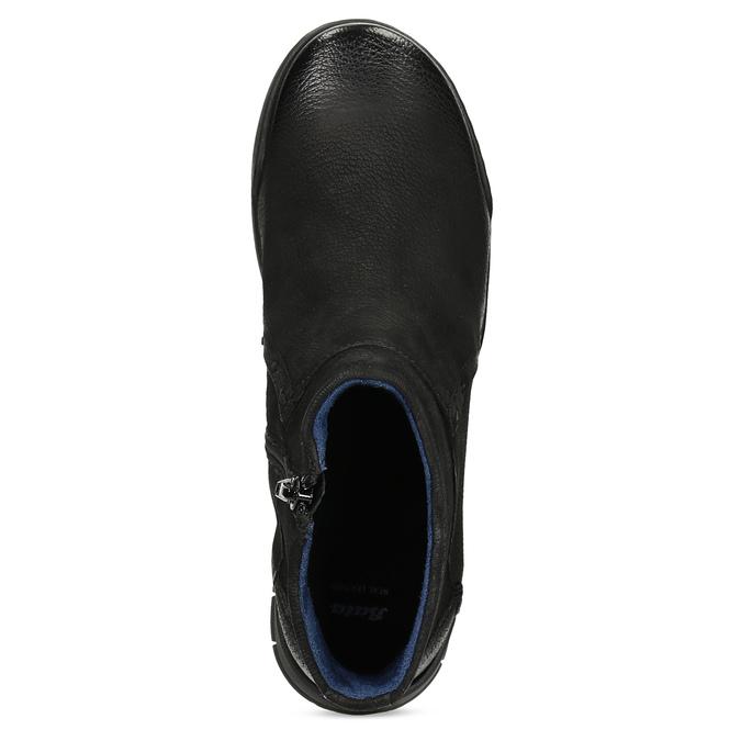 Kožená dámska členková obuv bata, čierna, 596-6706 - 17