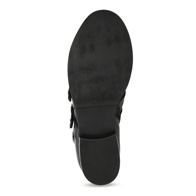 Čierne kožené čižmy s kovovými cvočkami steve-madden, čierna, 514-6025 - 18