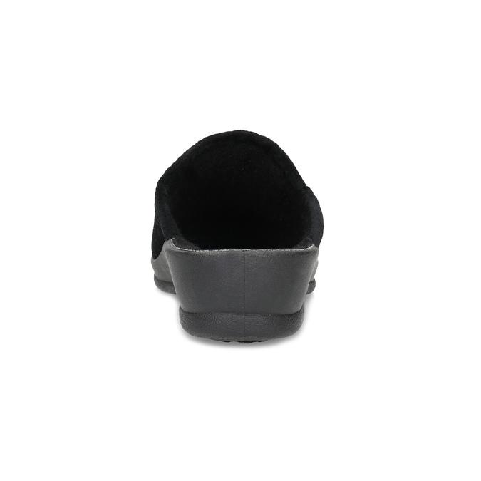 Dámske domáce čierne nazuváky bata, čierna, 579-6631 - 15
