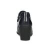 Modrá kožená členková obuv s pružením clarks, modrá, 716-9076 - 15