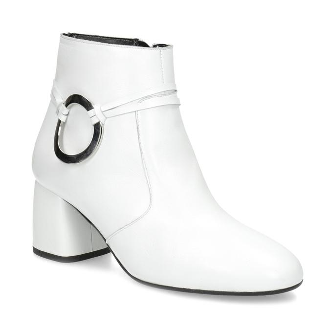 c0b1eb8954f97 Bata Biela kožená členková obuv s prackou - White Sense | Baťa.sk