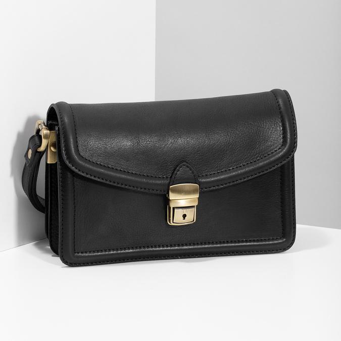 Čierna pánska kožená taška do ruky bata, čierna, 964-6315 - 17