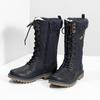 Dievčenské čižmy  s kožúškom a výšivkou mini-b, modrá, 391-9671 - 16