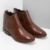 Kožená dámska obuv v Chelsea štýle bata, hnedá, 594-4682 - 26