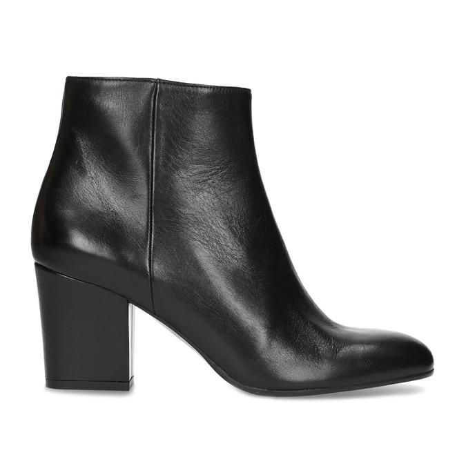 Členková kožená obuv na stabilnom podpätku bata, čierna, 796-6654 - 19