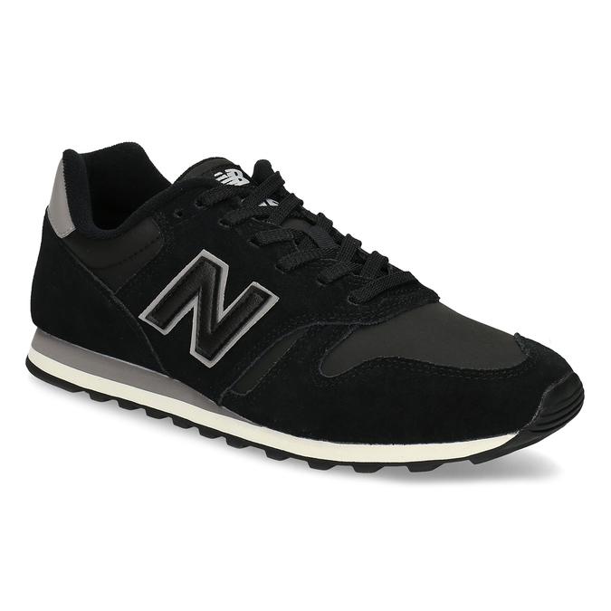 Čierne pánske tenisky z brúsenej kože new-balance, čierna, 803-6137 - 13