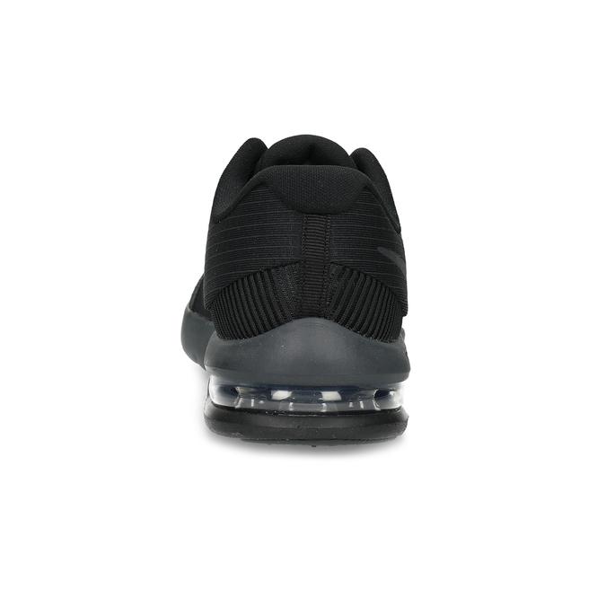 Pánske čierne tenisky s výraznou podrážkou nike, čierna, 809-6166 - 15