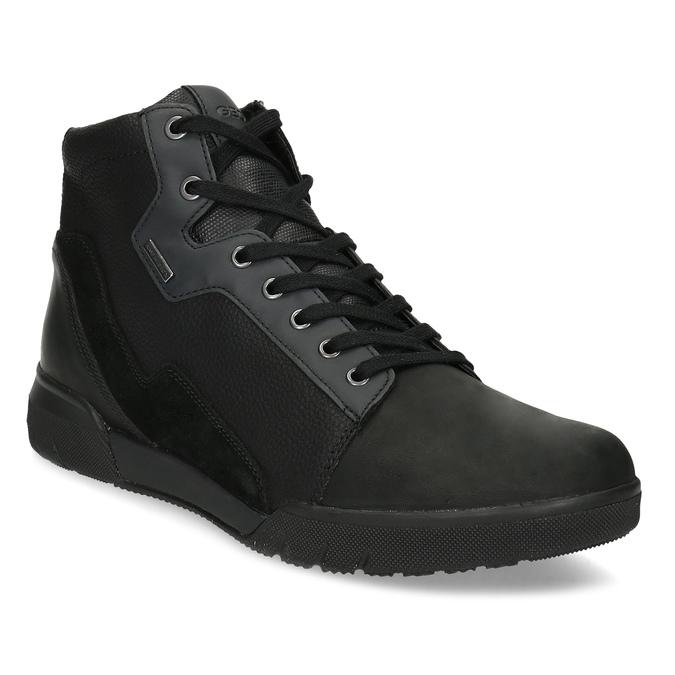 Pánska čierna členková obuv geox, čierna, 821-6033 - 13