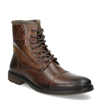Kožená pánska zimná členková obuv bata, hnedá, 896-4716 - 13