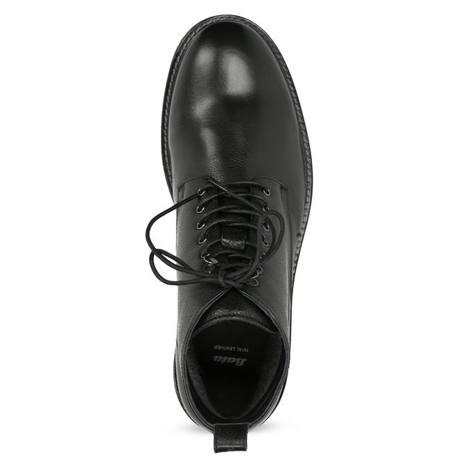 Čierna kožená členková pánska obuv bata, čierna, 894-6721 - 17
