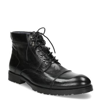 Pánska čierna lesklá členková obuv bata, čierna, 896-6720 - 13