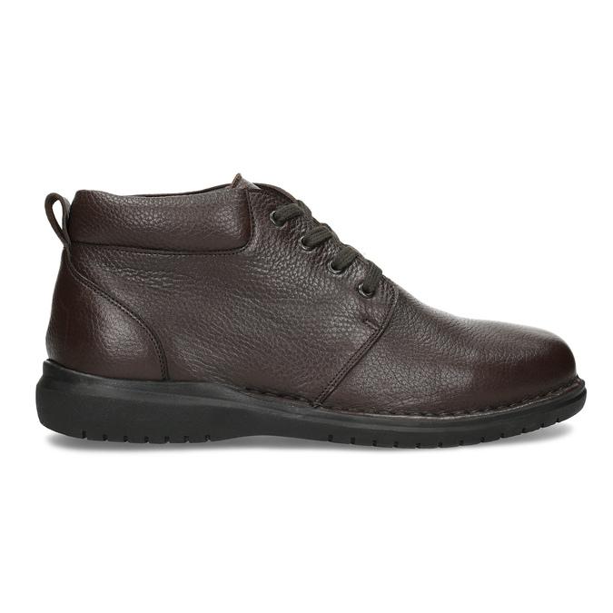 Kožená pánska členková obuv comfit, hnedá, 896-4701 - 19
