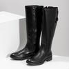Kožené čierne čižmy s prackou bata, čierna, 594-6678 - 16