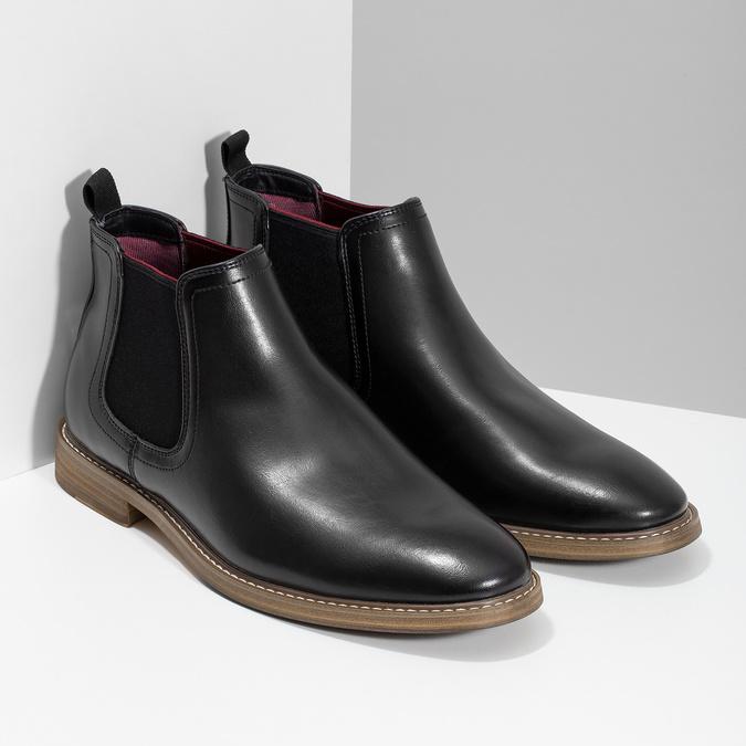 Čierna pánska Chelsea obuv bata-red-label, čierna, 821-6611 - 26