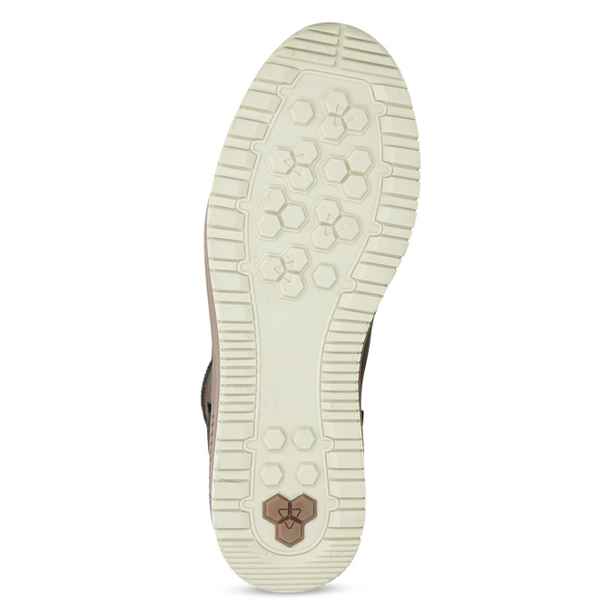 Členková kožená pánska zimná obuv bata, hnedá, 896-3712 - 18