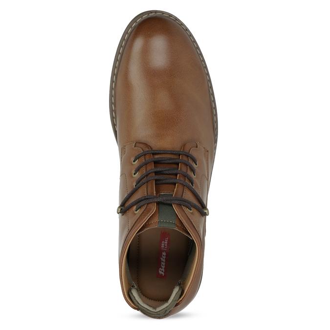 Hnedá členková obuv pánska s pružením bata-red-label, hnedá, 821-3610 - 17
