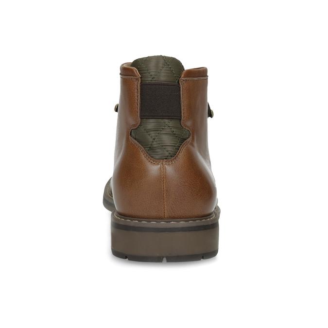 Hnedá členková obuv pánska s pružením bata-red-label, hnedá, 821-3610 - 15