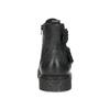 Kožená pánska členková obuv s prackami bata, čierna, 896-6715 - 15