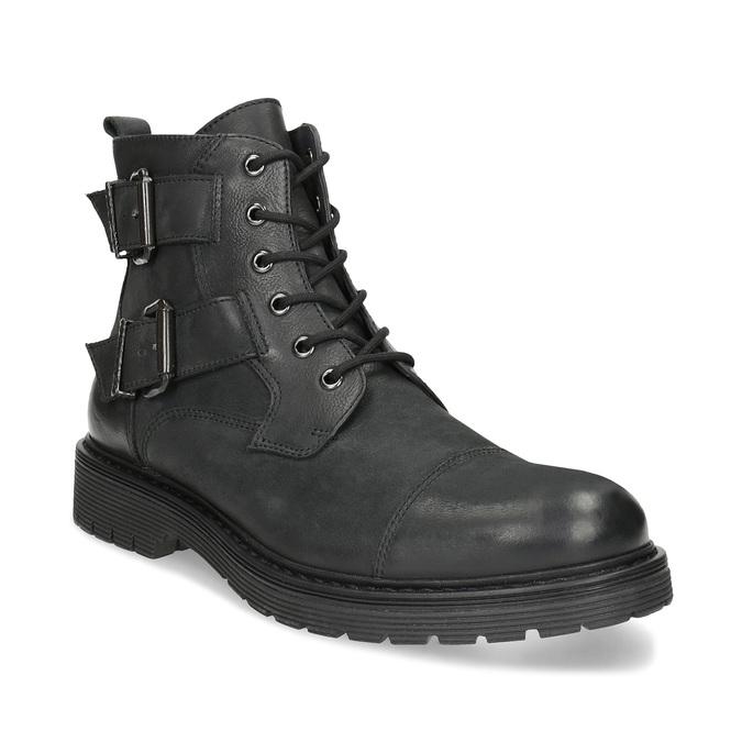 Baťa Kožená pánska členková obuv s prackami - Zimná obuv  867ad73ca14