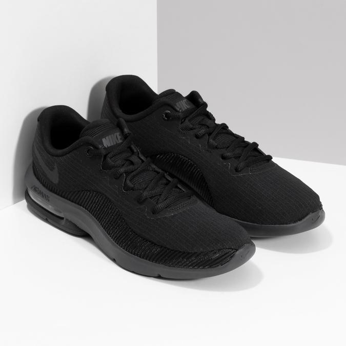 Pánske čierne tenisky s výraznou podrážkou nike, čierna, 809-6166 - 26