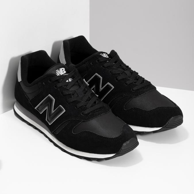 Čierne pánske tenisky z brúsenej kože new-balance, čierna, 803-6137 - 26