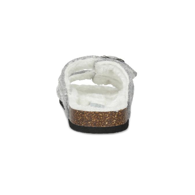 Dámske domáce nazuváky s kožúškom de-fonseca, šedá, 579-2636 - 15