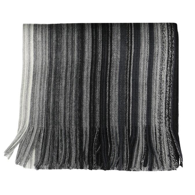 Pánsky šedý pruhovaný šál bata, šedá, 909-2694 - 13