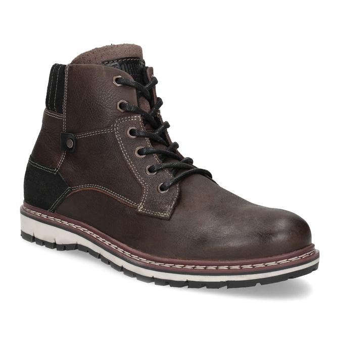 Členková kožená pánska obuv bata, hnedá, 896-4666 - 13