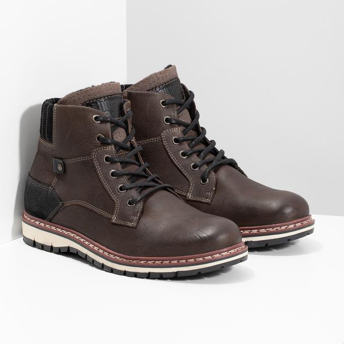 Členková kožená pánska obuv bata, hnedá, 896-4666 - 26