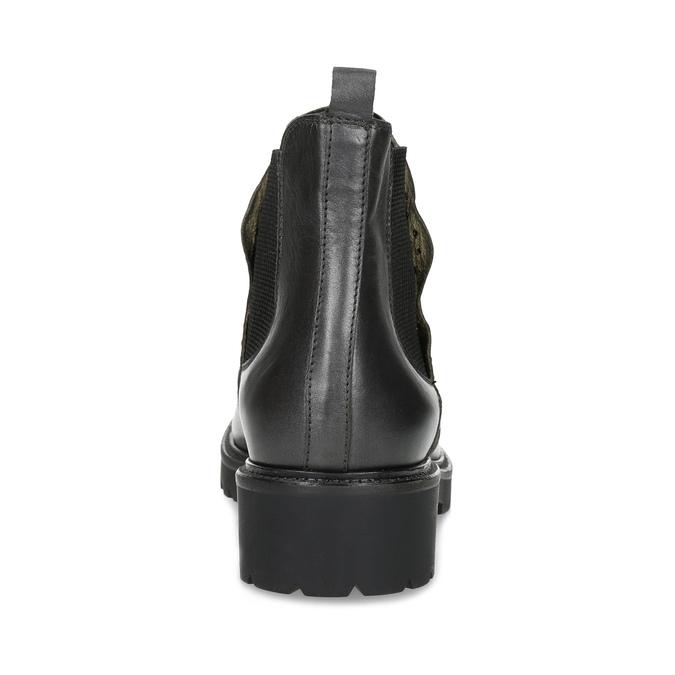 Kožená dámska Chelsea obuv s kovovými cvočkami bata, šedá, 596-9734 - 15
