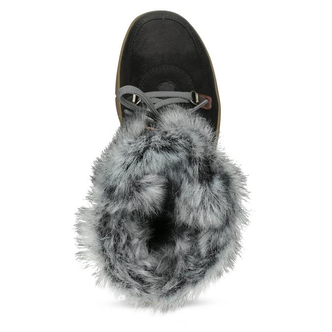 Dámska čierna zimná obuv s kožúškom weinbrenner, čierna, 596-6755 - 17