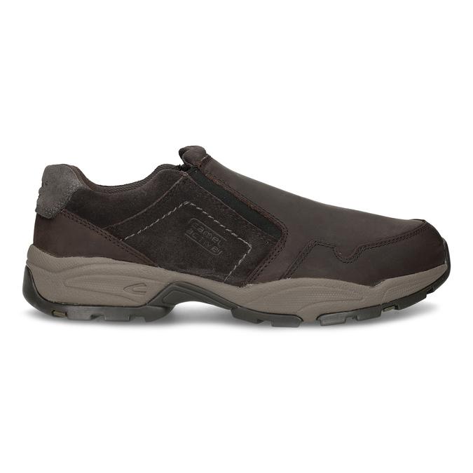 Pánska hnedá kožená obuv s pružením camel-active, hnedá, 826-4091 - 19