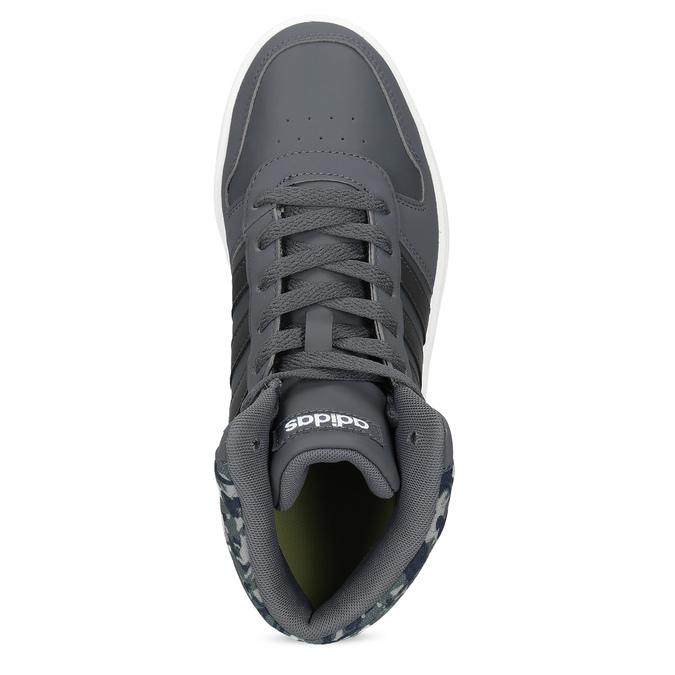 Šedé členkové detské tenisky adidas, šedá, 401-2395 - 17