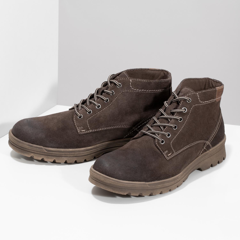 Weinbrenner Pánska kožená členková obuv - Zľavy  b238689dd27