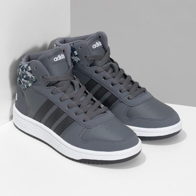 Šedé členkové detské tenisky adidas, šedá, 401-2395 - 26