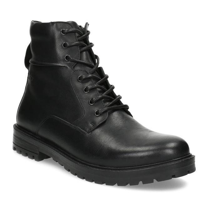 Baťa Zimná čierna kožená členková obuv - Muži  ad02fbfdb50