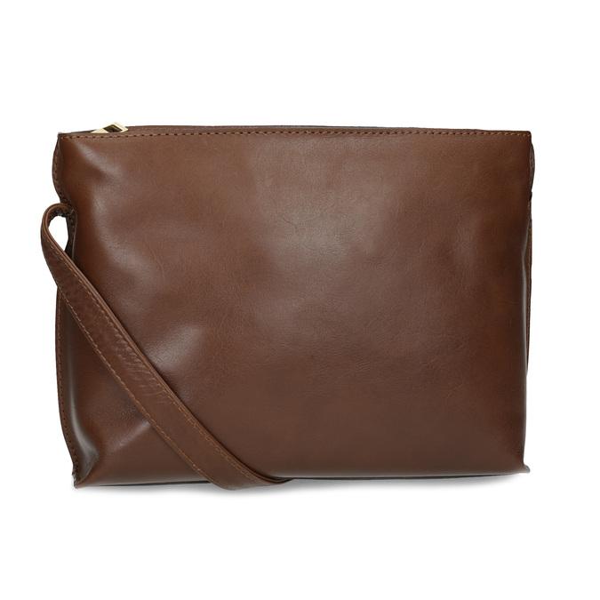 Kožená hnedá crossbody kabelka bata, hnedá, 964-3605 - 16
