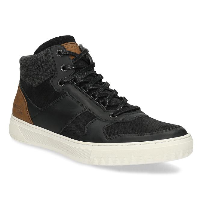Čierne členkové pánske tenisky bata, čierna, 846-6722 - 13