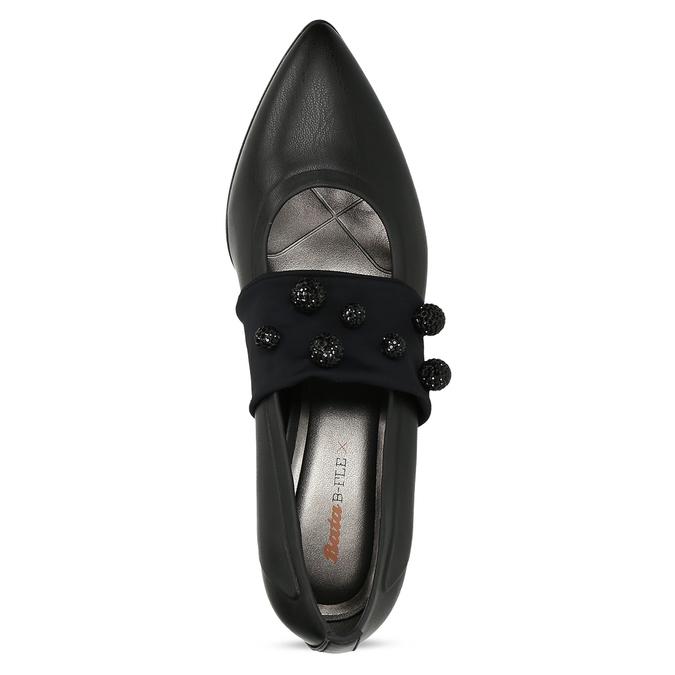 Čierne lodičky s ozdobným remienkom bata-b-flex, čierna, 721-6620 - 17