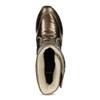 Dámske bronzové snehule bata, bronzová, 599-8626 - 17