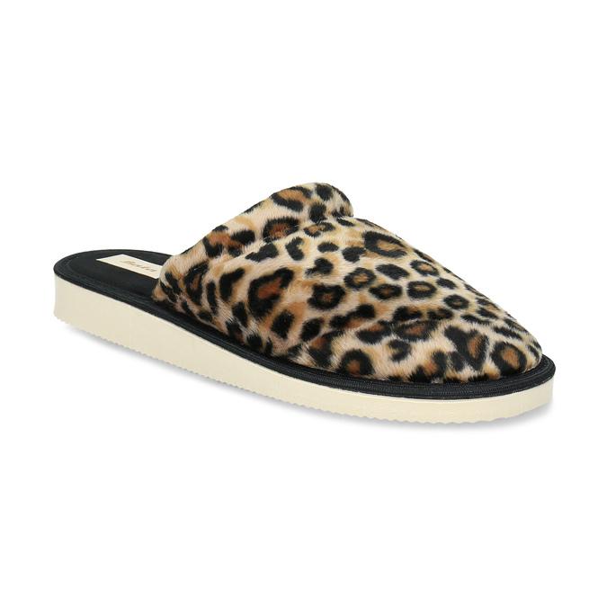 Dámske domáce nazuváky s leopardím vzorom bata, hnedá, 579-8639 - 13