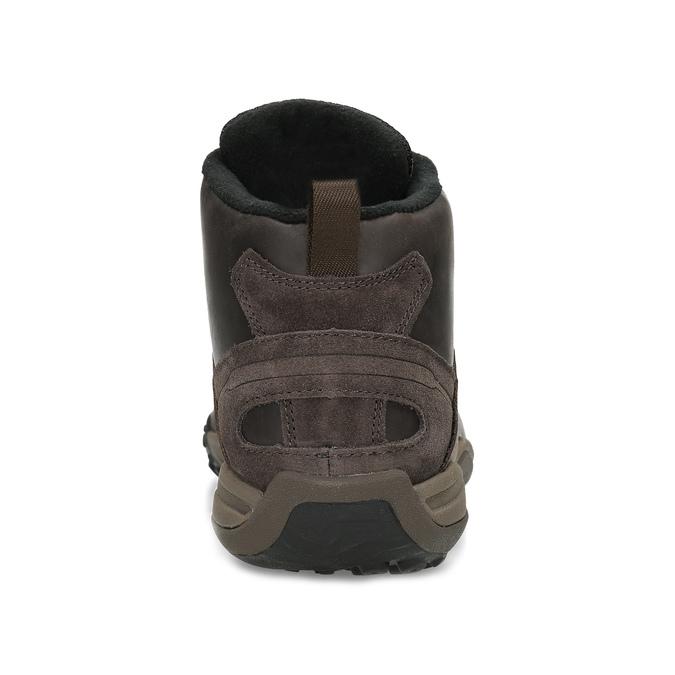Členková hnedá kožená pánska obuv merrell, hnedá, 806-4102 - 15