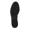 Čierne kožené čižmy s kovovými cvokmi bata, čierna, 596-6725 - 18