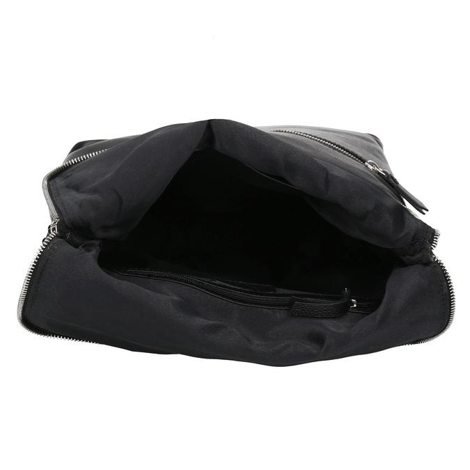 Kožený čierny batôžtek bata, čierna, 964-6607 - 15
